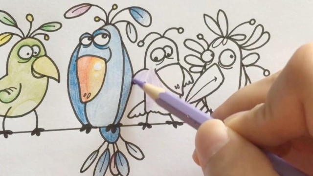 亲子绘画 桃子部落简笔画之你算哪只鸟
