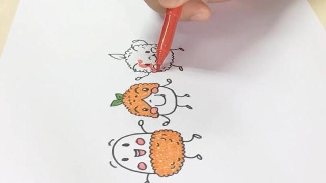 亲子绘画 桃子部落简笔画之鱼子酱也疯狂