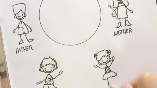 亲子绘画 桃子部落简笔画之超级简单的小人