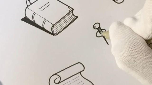 亲子绘画 桃子部落简笔画之学生时代