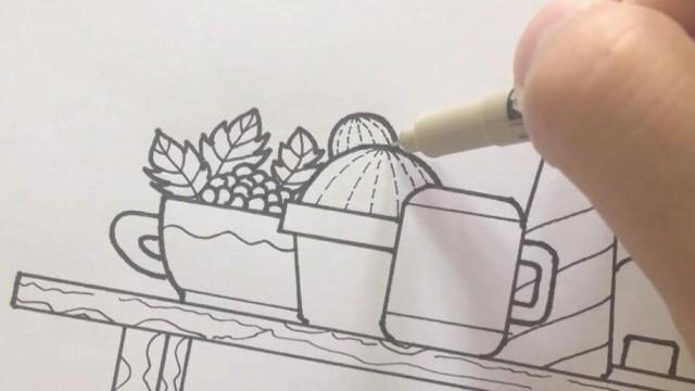 亲子绘画 桃子部落简笔画之多肉植物 上