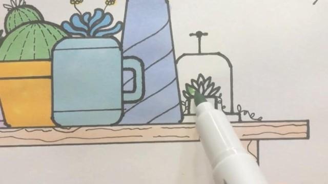 亲子绘画 桃子部落简笔画之多肉植物 下