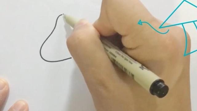 亲子绘画 桃子部落简笔画的基础造型 下