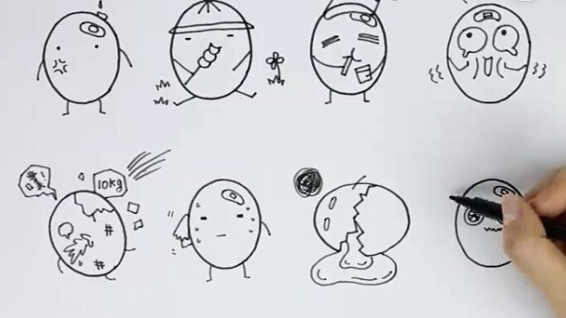 飞乐鸟绘画 超可爱的表情简笔画