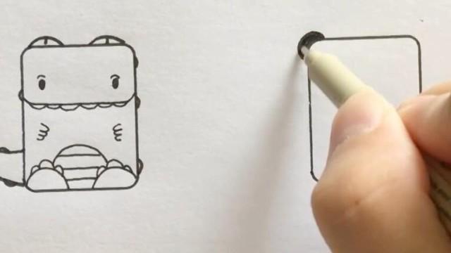 亲子绘画 桃子部落简笔画动物总动员
