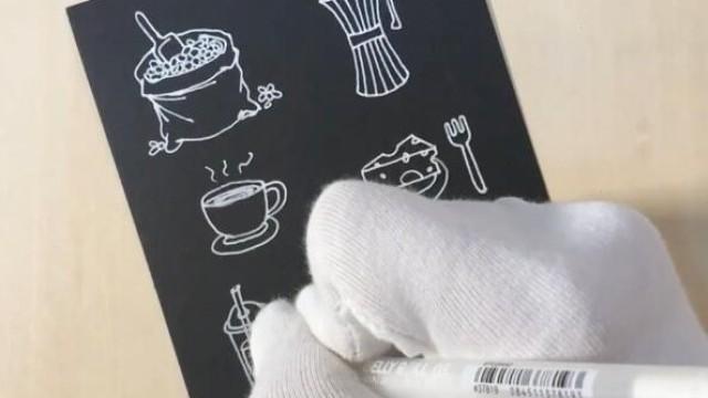 亲子绘画 桃子部落简笔画咖啡馆故事